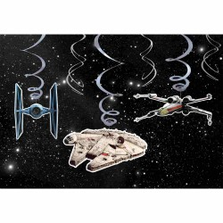 Set 6 Serpentine Decorative Star Wars Party, Amscan 9903085