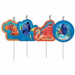 4 lumanari figurina cu personajele din Finding Dory, Amscan 9900962