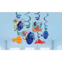6 Serpentine decorative cu personajele din Finding Dory, Amscan 9900960