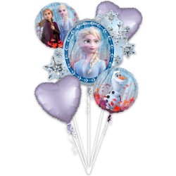 Buchet 5 baloane folie, Frozen 2 , Amscan 4038901
