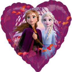 Balon folie metalizata inima Frozen 2, 43cm, Amscan 4044901