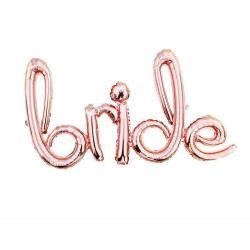 Balon scris BRIDE, Rose Gold, FooCA, 70 x 41 cm