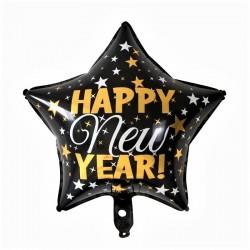 "Balon folie stea ""HAPPY NEW YEAR"", FooCA, 45cm"