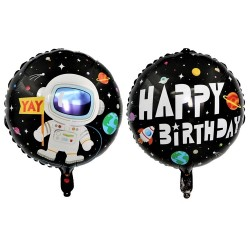 Balon Astronaut Happy Birthday, 2 fete, FooCA