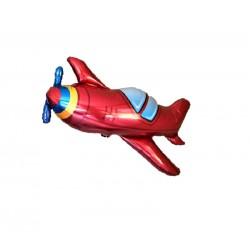 Balon figurina Avion Clasic Rosu, FooCA, 80 x 32 cm