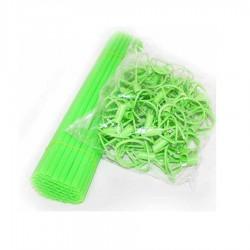 Bete si rozete verzi din plastic pentru baloane folie, 41cm