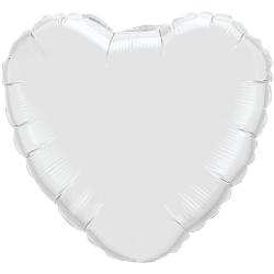 Balon Folie in forma de Inima Alba, FooCA, 45cm