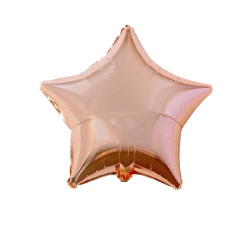 Balon folie metalizat stea rose gold, FooCA, 45cm