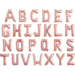 Balon Folie Litera Mica A-Z Roz Gold, FooCA, 35 cm