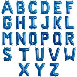 Balon folie litera A-Z, Albastru Regal Navy, FooCA, 35 cm