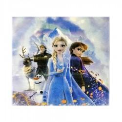 Set 20 Servetele cu Frozen - Regatul de Gheata 2, 33 x 33 cm