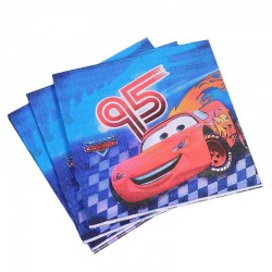 Set 20 Servetele cu Masini Cars, 33 x 33 cm