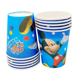 Set 10 Pahare cu Mickey Mouse, 200ml