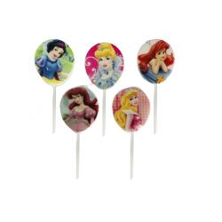 Set 5 Lumanari pentru Tort cu Printesele Disney, 7 cm