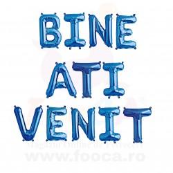 """SET 12 Baloane Folie """"BINE ATI VENIT"""", 35cm FooCA, Albastru si Alte..."""