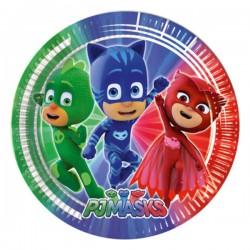 Set 8 Farfurii mari PJ Masks - Eroi în Pijamale, 23 cm, Rocca Fun Factory