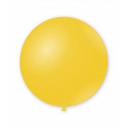 Balon latex Jumbo pentru decor, 80 cm, Galben, G220 11