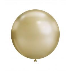 Baloane Latex Jumbo Cromate Auriu 83 cm. Rocca Fun Factory,