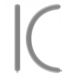 Baloane Latex Cromate MODELAJ Argintiu 260, DC4 89