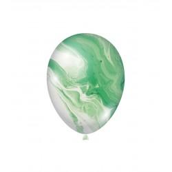 Baloane Latex Marmorate Agate, Verde, 30 cm,      Rocca Fun Factory,...