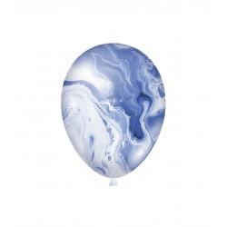 Baloane Latex Marmorate Agate, Albastru, 30 cm, Rocca Fun Factory,...