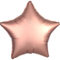 Balon folie mini stea champagne rose gold cromat, FooCA, 25cm