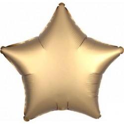 Balon Folie in forma de Stea Auriu Cromat, 45 cm, FooCA