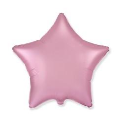 Balon Folie in forma de Stea Roz Cromat, 45 cm, FooCA