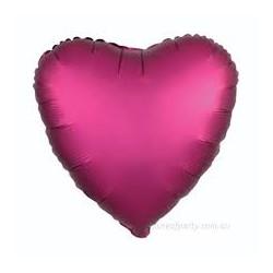 Balon Folie in forma de Inima Mov Magenta Cromat, 45cm, FooCA