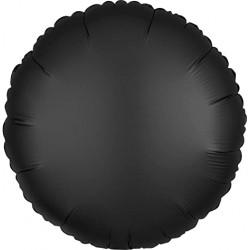 Balon Folie Rotund Negru Cromat, 45 cm, FooCA