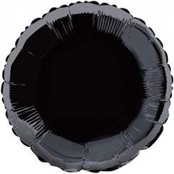 Balon Folie Rotund Negru, 45 cm, FooCA