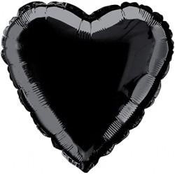 Balon Folie in forma de Inima Neagra, 45cm, FooCA