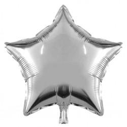 Balon Mini Folie in forma de Stea Argintie, 25 cm, FooCA