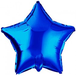 Balon Mini Folie in forma de Stea Albastra, 25 cm, FooCA