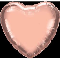 Balon Mini Folie in forma de Inima Champagne Rose Gold, FooCA, 25 cm