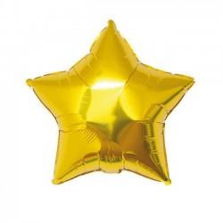 Balon Mini Folie in forma de Stea Aurie, 13 cm, FooCA