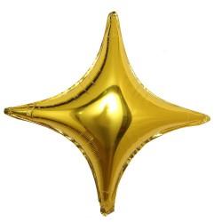 Balon folie Stea in patru Colturi, Auriu, 70 x 70 cm, FooCA
