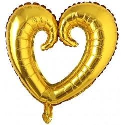 Balon Figurina Folie in forma de Inima Auriu - 47 x 47 cm, FooCA