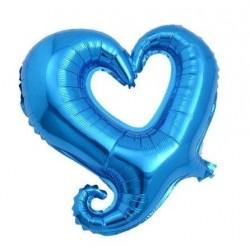 Balon Figurina Folie in forma de Inima Albastru, 47 x 47 cm, FooCA