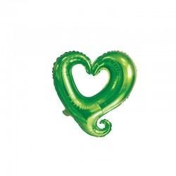 Balon Figurina Folie in forma de Inima Verde, 47 x 47 cm, FooCA