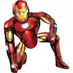 Balon folie figurina Airwalker Iron Man - 93x116cm, Marvel Avengers,...