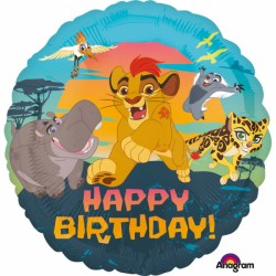Balon Folie 43 cm Lion Guard - Happy Birthday, Amscan 3464401