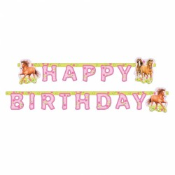 Banner Charming Horses Happy Birthday, 180cm, Amscan 551265