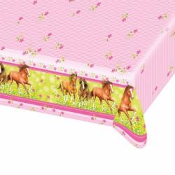Fata de masa pentru petrecere copii - Charming Horses, 120 x 180 cm,...