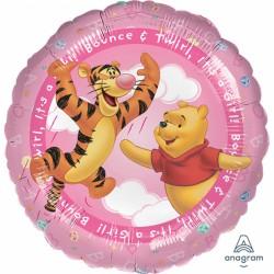 "Balon Folie 45 cm Winnie The Pooh - ""It's A Girl"", Amscan 09604 01"