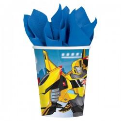 Pahare Transformers, 8 buc / set, Amscan 9901303