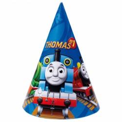 Coif petrecere copii cu Thomas & Friends, 6 buc/set Amscan 250130
