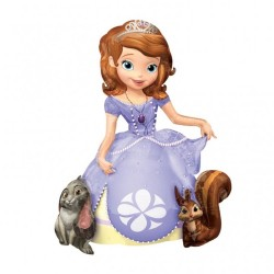 Balon folie figurina AirWalker Sofia the First, 93x121cm, Amscan 2831701