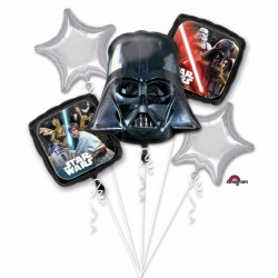 "Buchet 5 Baloane Folie Metalizată ""Star Wars Classic"", Amscan 3553301"