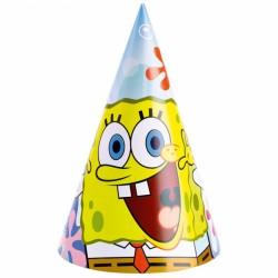 Coifuri petrecere tematica Sponge Bob, 6 buc./set, Amscan 997782